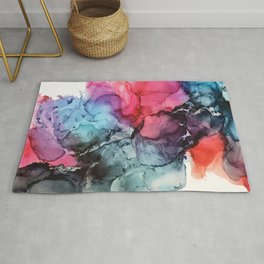 Darkness to Dawn - Mixed Media Painting Rug