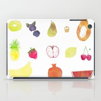 fruits iPad Cases featuring fruits by Ewa Pacia