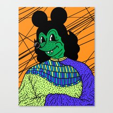 THE GREEN LADY. Canvas Print