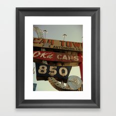 Ok'd Cars Sign  Framed Art Print