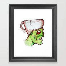 coffee zombie notext Framed Art Print