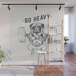 GO HEAVY Wall Mural