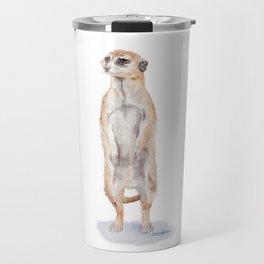 Meerkat Watercolor Painting Travel Mug