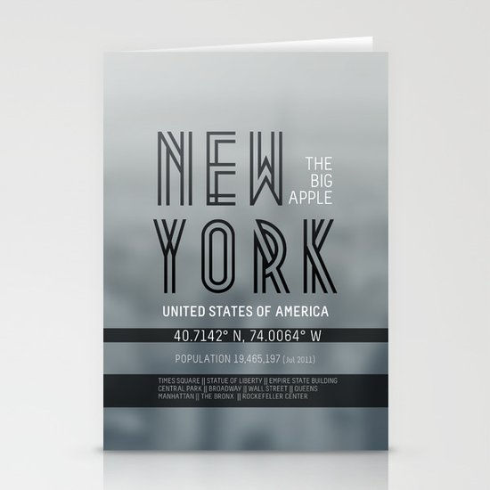 Metropolis New York Stationery Cards