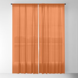 Orange Soda Solid Summer Party Color Sheer Curtain