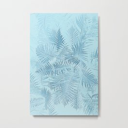 Abstract Tropical leaves Metal Print