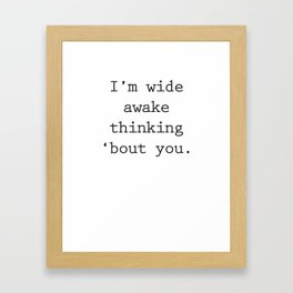 Wide Awake Print Framed Art Print