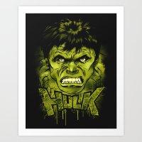 hulk Art Prints featuring HULK by dan elijah g. fajardo