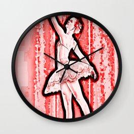 Scarlet Ballerina Wall Clock