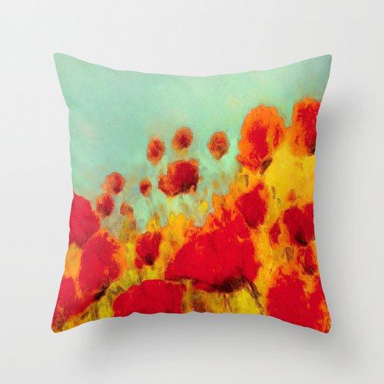FLOWERS - Poppy time Throw Pillow