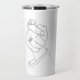 Alas, poor Sparrow! | Black on White Travel Mug