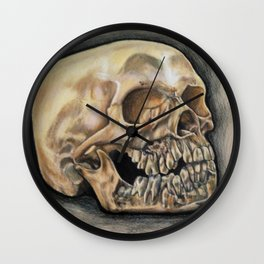 Skull Color Pencil  Wall Clock
