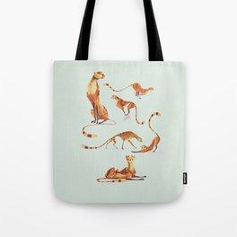 Cheetah poses Tote Bag
