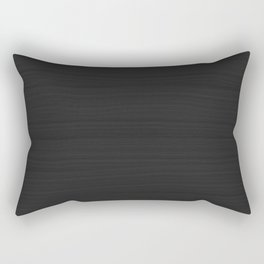 Onyx Black, Charcoal Gray Brushstroke Texture Rectangular Pillow