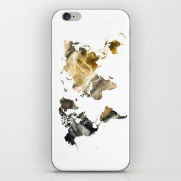 Sandy world map iPhone Skin