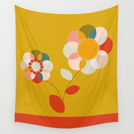 mid century bauhaus floral large 1 Wall Tapestry