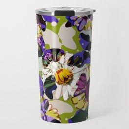 Vintage Butterflies & Daisies Travel Mug