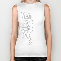 naked Biker Tanks featuring naked by Michael Interrante