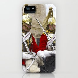 Household Cavalry Changing Of The Guard Art iPhone Case