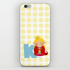 k for king iPhone & iPod Skin