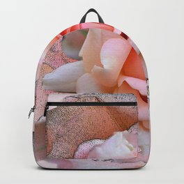 Blush rose with textured blossoms Backpack