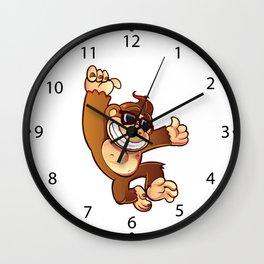 Illustration of Cartoon Monkey Wall Clock
