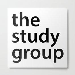 The study group Metal Print
