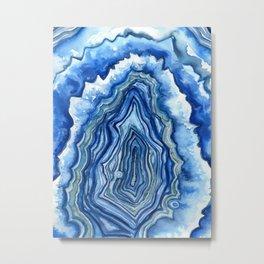 Blue Geode Metal Print