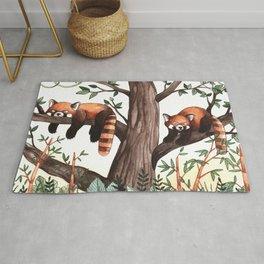 Red Pandas Rug
