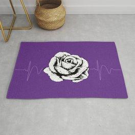 Purple Rose Cystic Fibrosis Month Fundraiser Design Rug