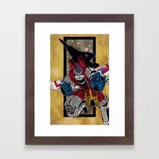 King Star Scream Framed Art Print