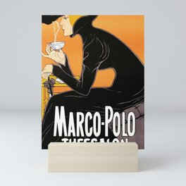 Marco Polo Tea Room Art Deco Ad Mini Art Print