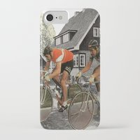 tour de france iPhone & iPod Cases featuring Le tour de France by a wardrobe in the space