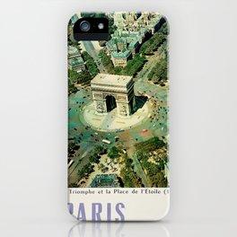 Vintage poster - Paris iPhone Case