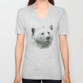 Sentimental bear Unisex V-Neck