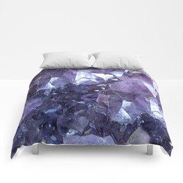 Amethyst Crystal Cluster Comforters