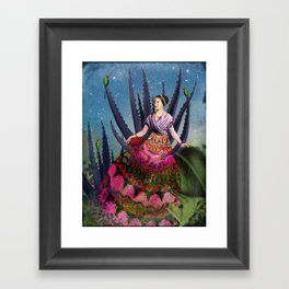 Blue Agave and Cacao Framed Art Print