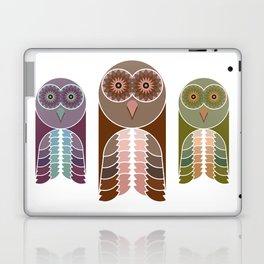 Owl With Kaleidoscope Eyes Laptop & iPad Skin