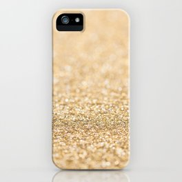 Beautiful champagne gold glitter sparkles iPhone Case