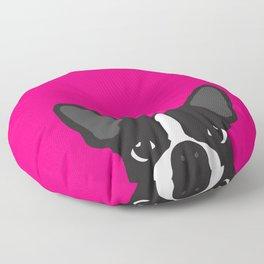 Boston Terrier Hot Pink Floor Pillow