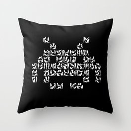 Naughty Space Invader Throw Pillow