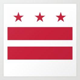 Washington D.C.: Washington D.C. Flag Art Print