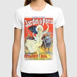 Jules Cheret Champs Elysees Jardin De Paris 1892 T-shirt