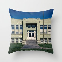 Antelope School Throw Pillow