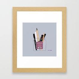 Pens & Pencils in a Jar Framed Art Print