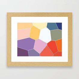 Colored Tiles Blocks Pattern Framed Art Print