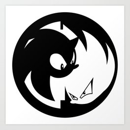 Wrath of Nazo Black and White Emblem Art Print