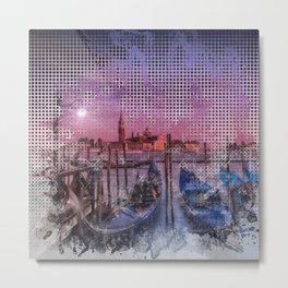 Graphic Art VENICE Gorgeous Sunset Metal Print
