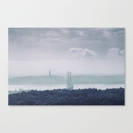 The view from Monsanto. Ponte 25 de Abril. Lisboa, Portugal. Canvas Print