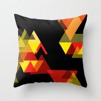 sesame street Throw Pillows featuring SESAME by Stephanie Eades